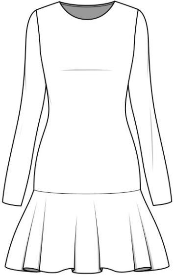 vestidos cintura baja